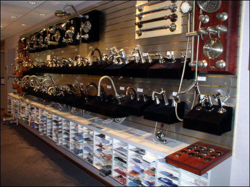 Waukesha Bathroom and Kitchen Remodeling Showroom has Hundreds of Faucets on Display