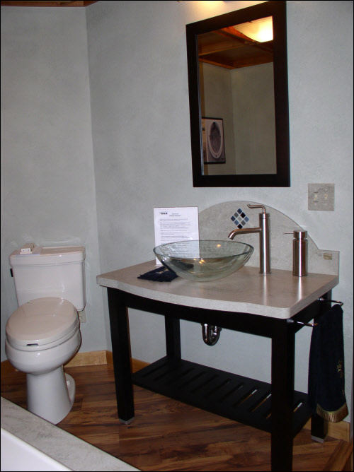 Vessels LAV on Kohler Furniture Vanity Bathroom Installation Wisconsin